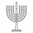 holidays, candles, seven, hanukah, menora, religious, menorah