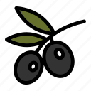 olive, olive branch, olive oil, olives, plant icon
