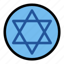 chanukah, hanukkah, israel, jewish, religious, star of david icon