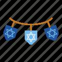 chanukah, hanukkah, hanukkah decorations, israel, jewish, religious, star of david