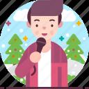 entertainment, male, man, music, singer, singing icon