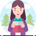 avatar, female, gift, gift box, woman