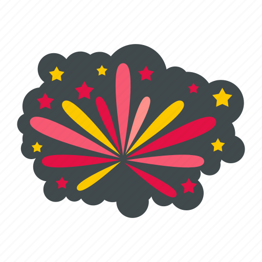 anniversary, celebration, festival, fireworks, holiday, star, year icon