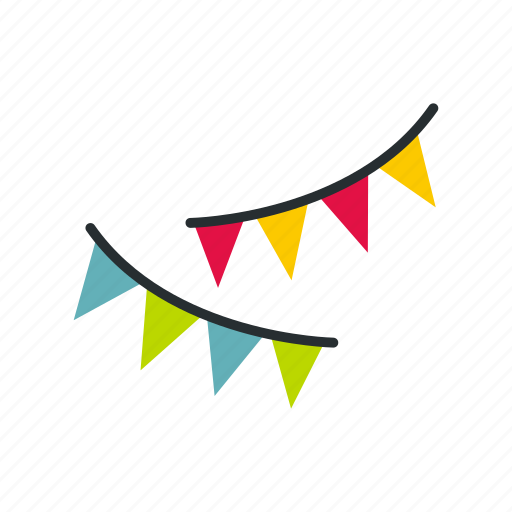 celebration, decoration, event, flags, fun, holiday, party icon