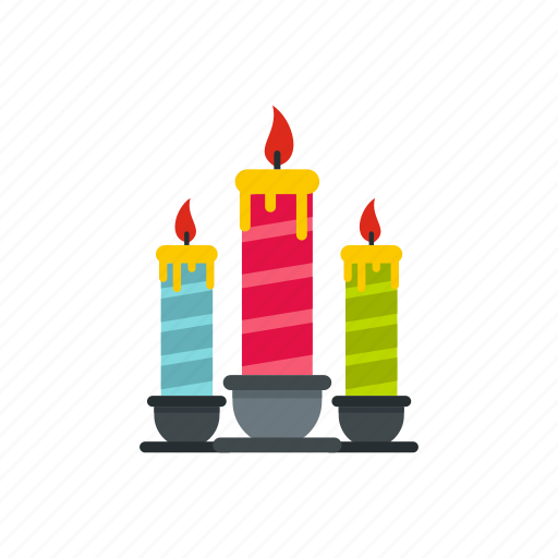candles, celebration, decoration, festive, fire, flame, light icon