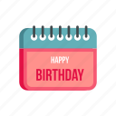 birthday, calendar, day, happy, month, season, year icon