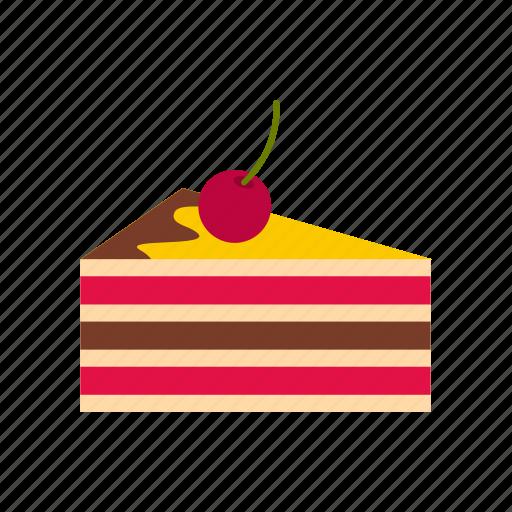 bakery, birthday, cake, celebration, cherries, dessert, sweet icon