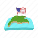 america, map, ocean, state, united, usa, water icon