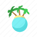 beach, cartoon, palm, summer, travel, tropical, vacation icon
