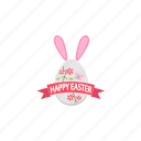 celebration, decoration, easter, egg, happy, holiday, ribbon icon