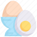 boiled egg, easter day, egg, food, happy easter, holidays, spring season icon