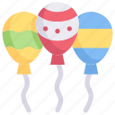 decoration, easter day, easter egg balloon, egg, happy easter, holidays, spring season icon