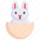 bunny, easter day, easter egg rabbit, egg, happy easter, holidays, spring season icon