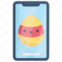 easter day, easter egg smartphone, egg, happy easter, holidays, mobile, spring season icon