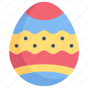 easter day, easter egg, egg, egg paint, happy easter, holidays, spring season icon