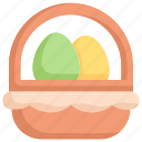 easter day, egg, egg basket, happy easter, holidays, spring season, wicker icon