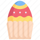 cake, easter day, egg, egg muffin, happy easter, holidays, spring season icon