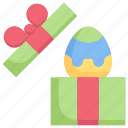 easter day, egg, gift box, happy easter, holidays, present, spring season icon