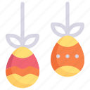decoration, easter day, egg, hanging egg, happy easter, holidays, spring season icon