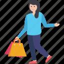 purchasing, shopping, shopping girl, shopping time, window shopping icon