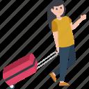 tripper, adventurer, tourist, traveller, visitor icon