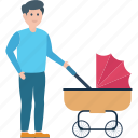 baby buggy, baby carriage, baby cart, baby pram, baby transport icon