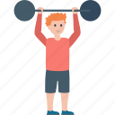 barbell, exercise, fitness, powerlifting, weightlifting icon