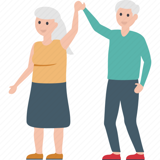 couple dance, elderly, old citizens, old people, older couple icon