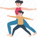 athletes, fitness, gymnastics, stretching exercise, workout icon