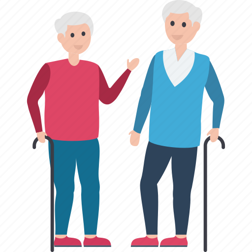 caretaker, elderly, old man, old person, senior citizen icon