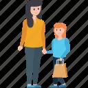 couple, purchasing, shopping, shopping time, window shopping icon