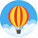 air, balloon, charity, daydream, dream, future, happy, inspire, transport, travel icon
