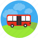 bus, education, transfer, transport, travel, trip, shuttle icon