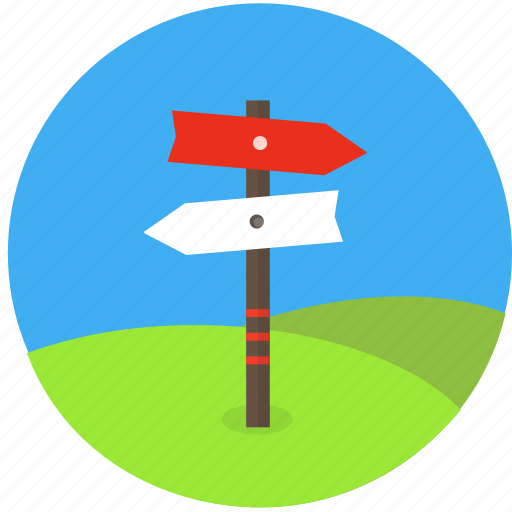 crossroad, decision, dilemma, direction, location, professional orientation, road, trip icon