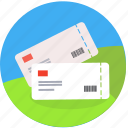 booking, cinema, invitation, pass, reservation, ticket, transport, travel icon
