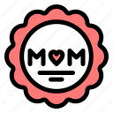 love, medal, mom, mother icon
