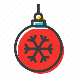 ball, bauble, celebration, christmas, decoration, new year, ornament icon