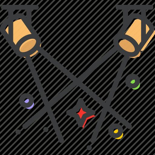 dance, floor, lights, party, spotlight, stage, theatre icon