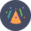 birthday, cap, celebrate, cone, merry, new year, party icon