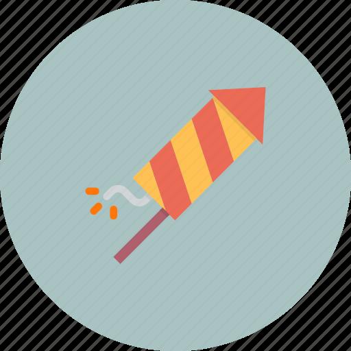celebrate, celebration, festival, fireworks, kids, new year, rocket icon