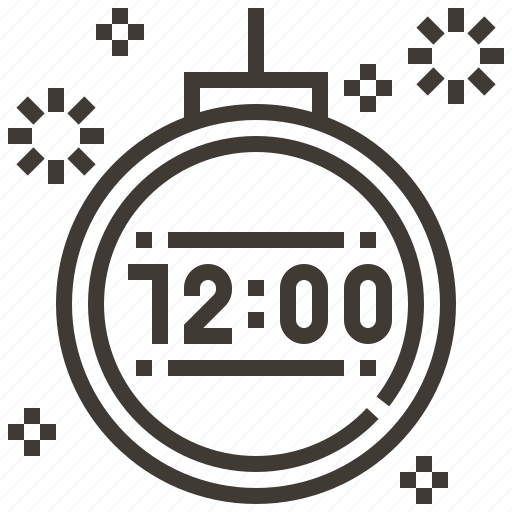 clock, count down, new year, time icon