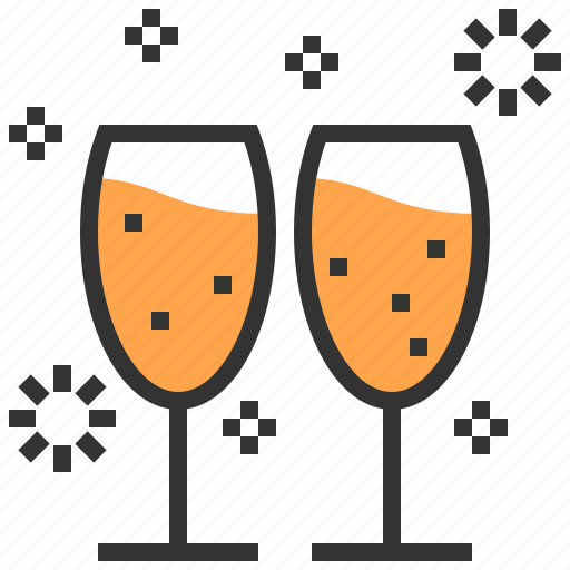 alcohol, alcoholic, celebration, cheers, drinks, glasses, toast icon