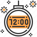 celebration, clock, holidays, new years eve, party, time, time and date icon