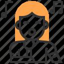 avatar, girl, karaoke, music and multimedia, singer, woman icon