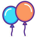 balloon, celebrate, celebration, festival, merry, new, year icon