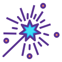 fantasy, magic, magician, star, wand, witchcraft icon