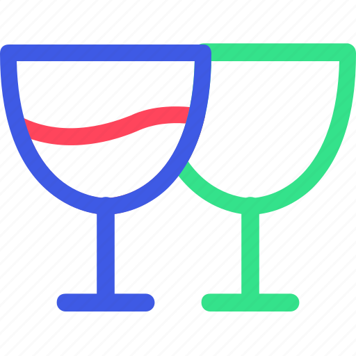 cheers, drink, glass, happy, new, party, year icon