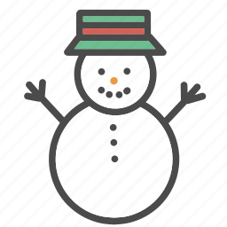 christmas, decorations, man, ornaments, snow, snowman, winter icon