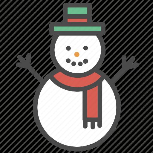 christmas, decorations, man, ornaments, snow, snowman, winter icon