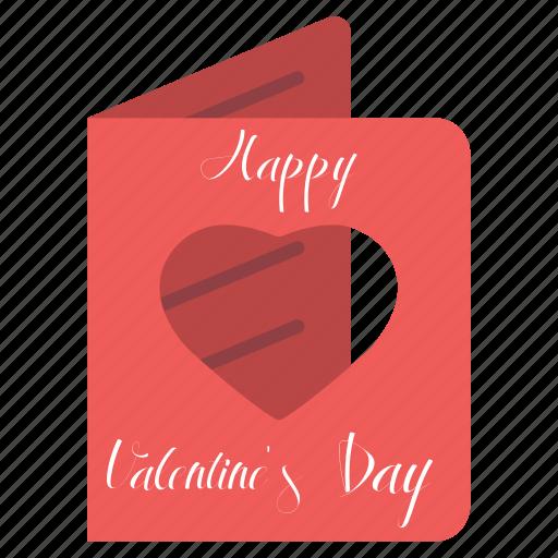 card, day, february 14, happy, valentine's icon